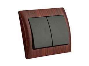 کلید دو پل دلند مدل آریا - طرح چوب ماهاگونی