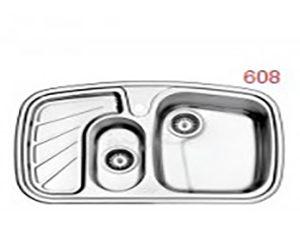 سینک استیل البرز مدل 50-608 توکار