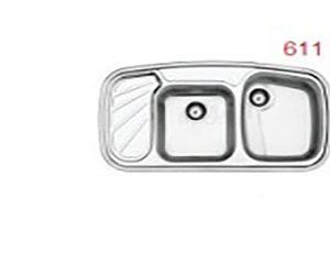 سینک استیل البرز مدل 51-611 توکار