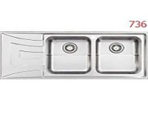 سینک استیل البرز مدل 50-736 توکار