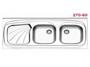 سینک فانتزی روکار استیل البرز مدل 270/60