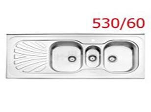 سینک فانتزی روکار استیل البرز مدل 530/60