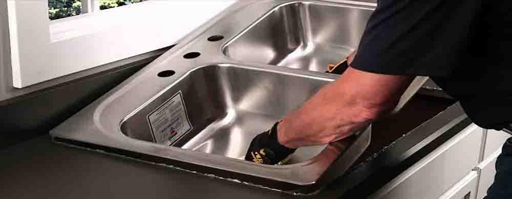 سینک ظرفشویی توکار |نحوه نصب سینک توکار